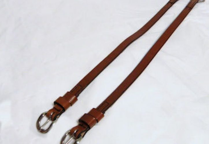 Western Leather Cross-under Straps
