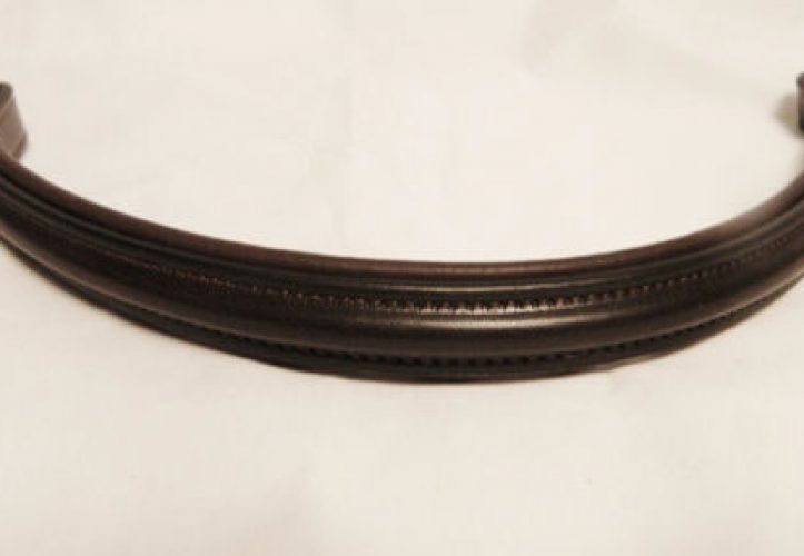 Padded English Leather Browband
