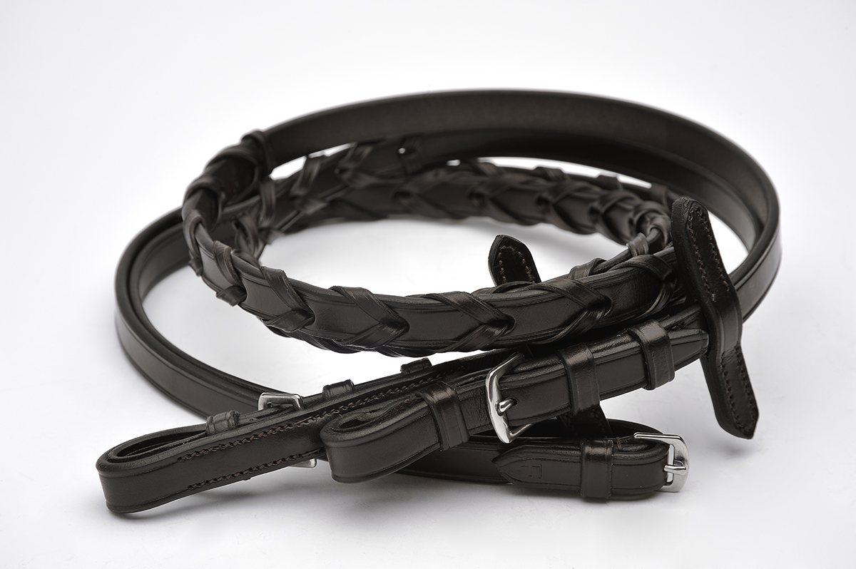 405620_BROWN LACED REINS ENGLISH LEATHER copy